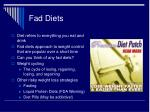 fad diets