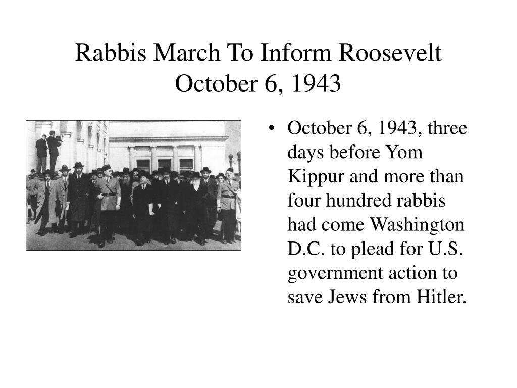 Rabbis March To Inform Roosevelt
