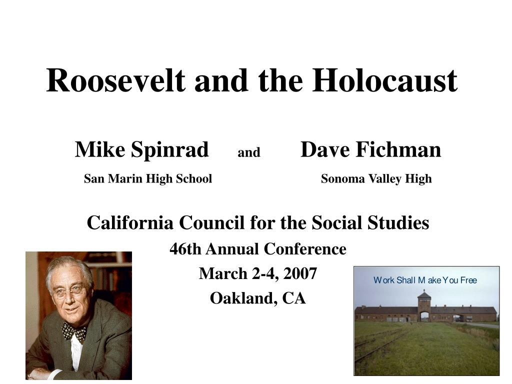 roosevelt and the holocaust l.