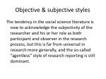 objective subjective styles