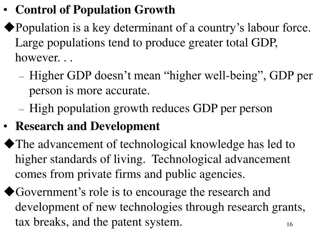 Control of Population Growth