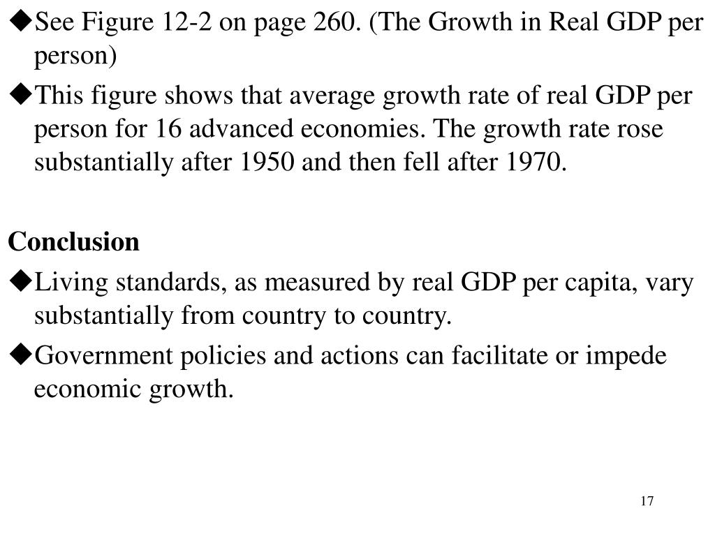 See Figure 12-2 on page 260. (The Growth in Real GDP per person)