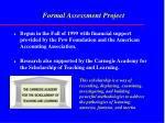 formal assessment project
