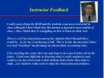 instructor feedback