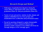 research design and method