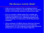 the business activity model
