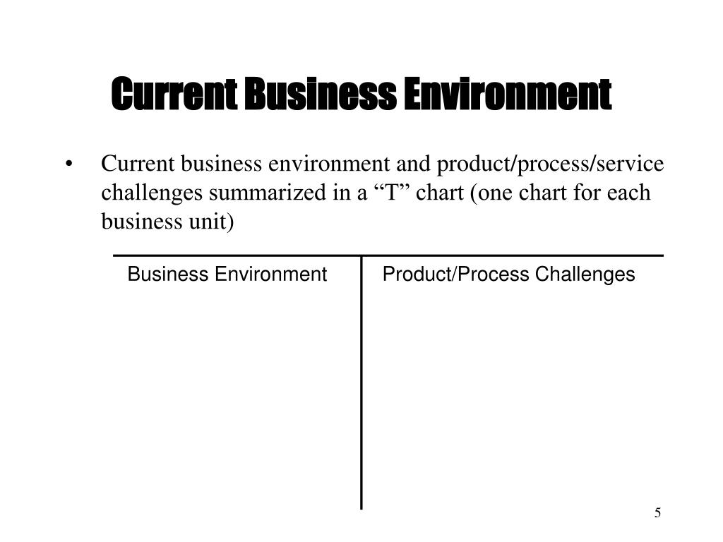 Current Business Environment
