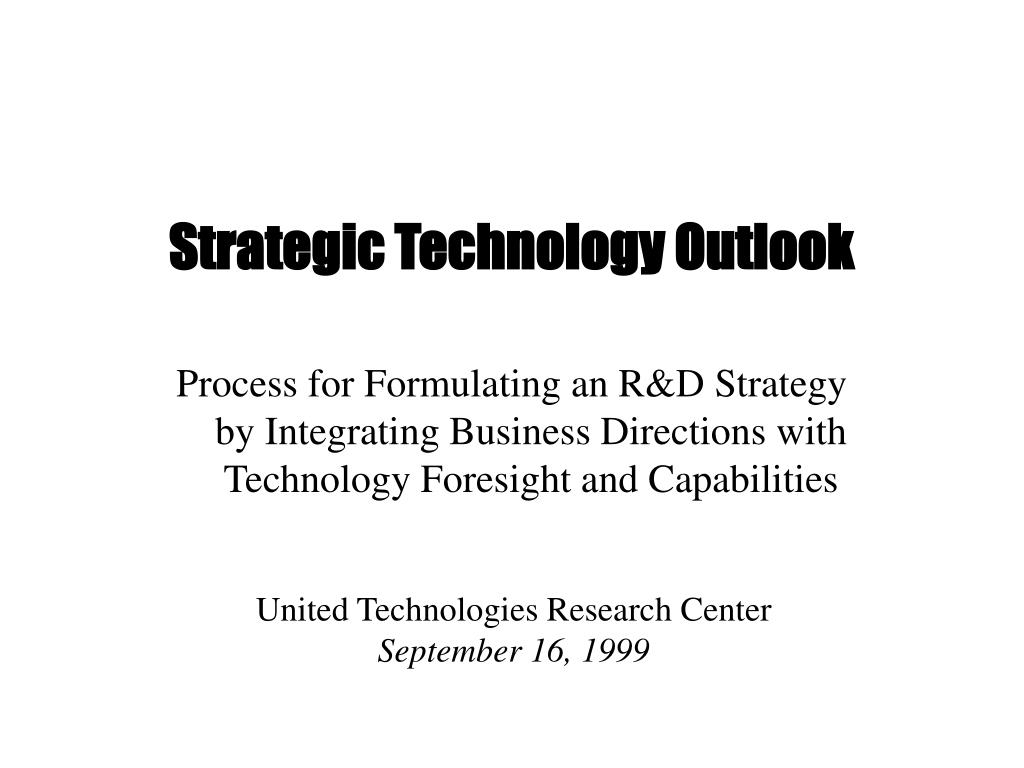 strategic technology outlook l.
