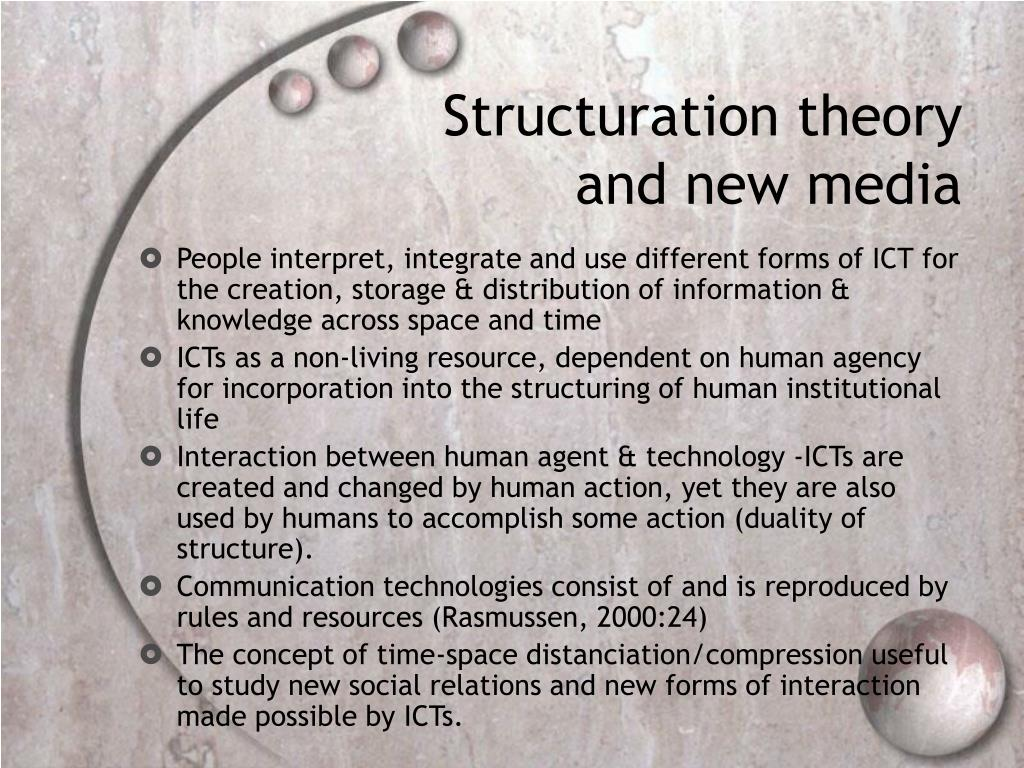 Structuration theory and new media