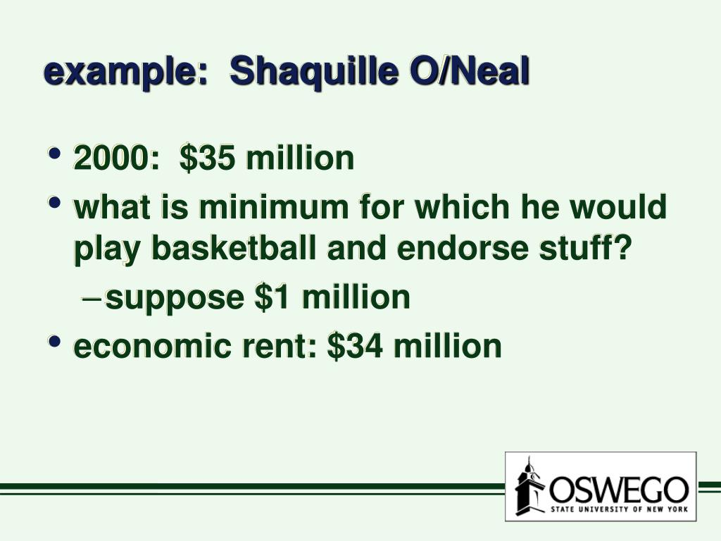 example:  Shaquille O/Neal