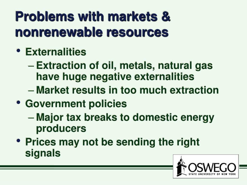 Problems with markets & nonrenewable resources