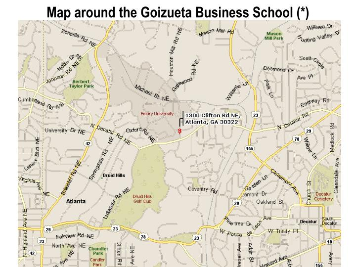 Map around the goizueta business school