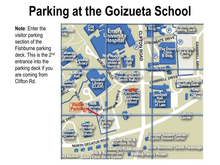 Parking at the goizueta school