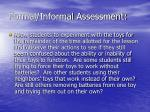 formal informal assessment