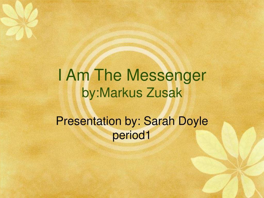 i am the messenger by markus zusak l.