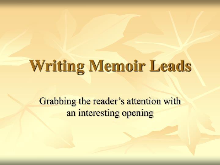writing memoir leads n.