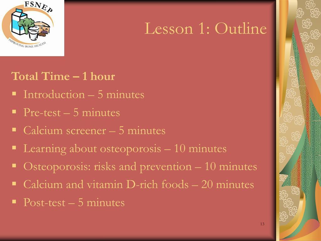Lesson 1: Outline