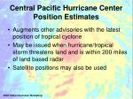central pacific hurricane center position estimates