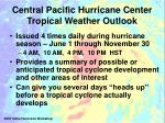 central pacific hurricane center tropical weather outlook