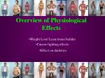 overview of physiological effects