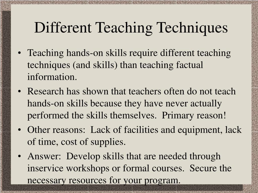 Different Teaching Techniques
