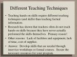 different teaching techniques