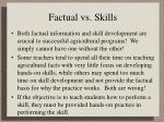 factual vs skills