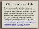objective advanced study