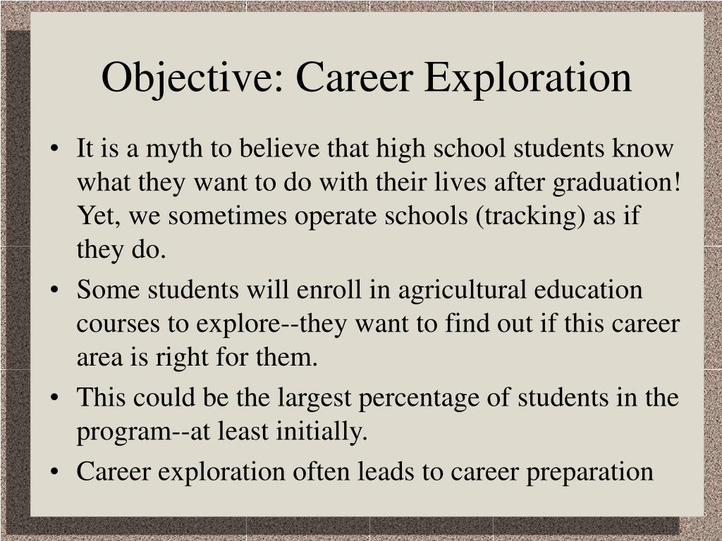 Objective: Career Exploration