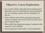 objective career exploration