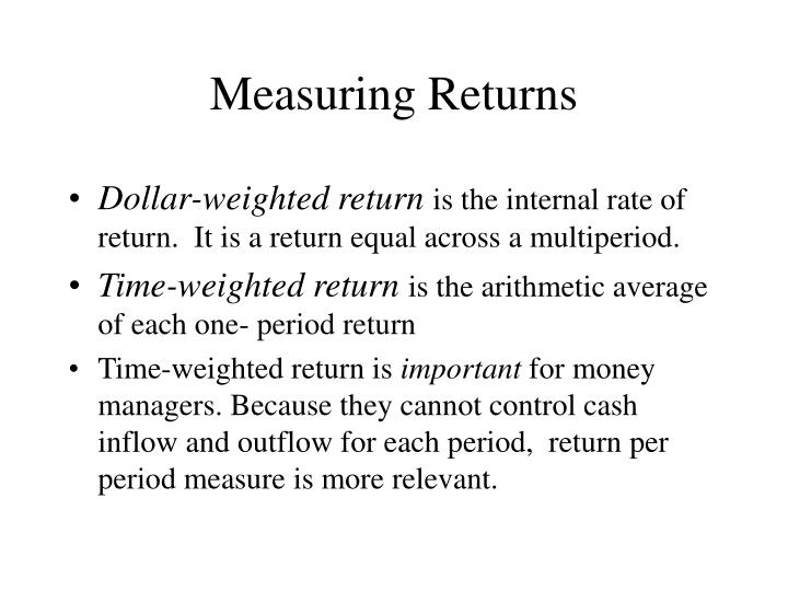 Measuring returns