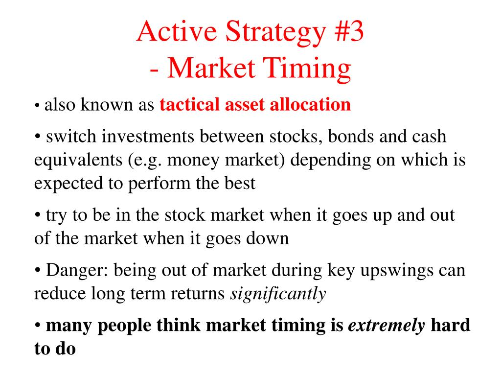 Active Strategy #3