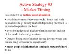 active strategy 3 market timing