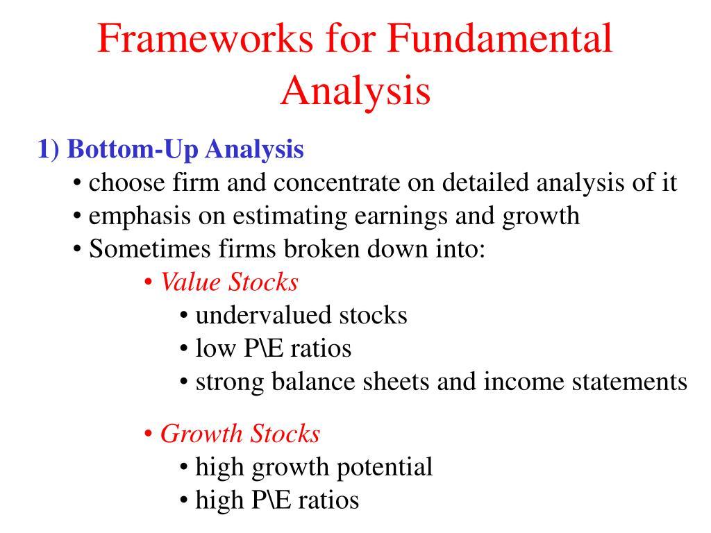 Frameworks for Fundamental Analysis