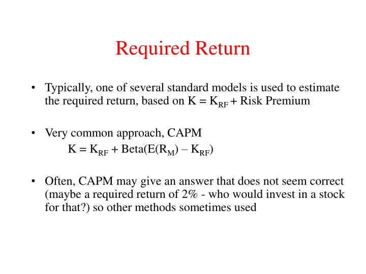 Required return3