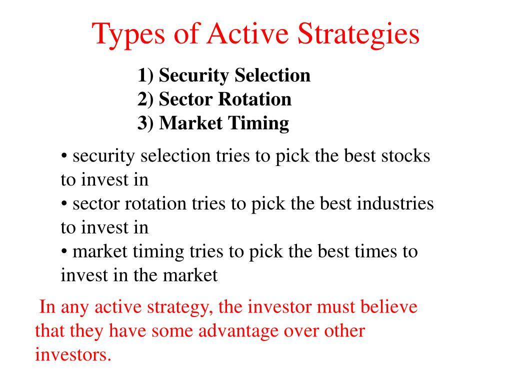 Types of Active Strategies