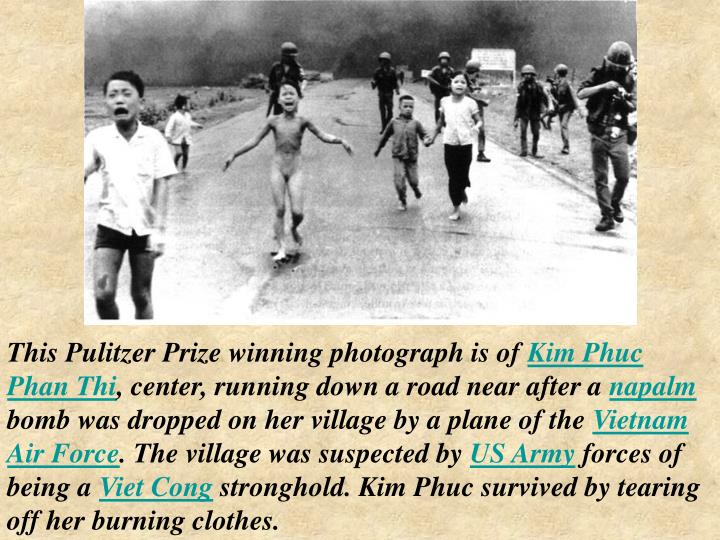 This Pulitzer Prize winning photograph is of