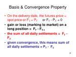 basis convergence property