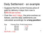 daily settlement an example