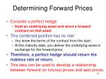 determining forward prices