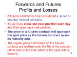 forwards and futures profits and losses