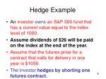 hedge example