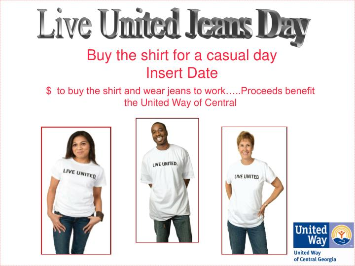 Buy the shirt for a casual day insert date