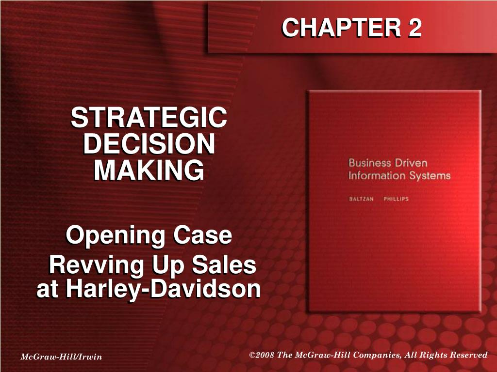 strategic decision making in a textile company information technology essay Figure 1 : information systems and various levels of organization source: reference (lauded and lauded, 2007) the third level of the management in an organization is the strategic level, where the pop most managers are making the strategic decisions or making policies for meeting company objectives.