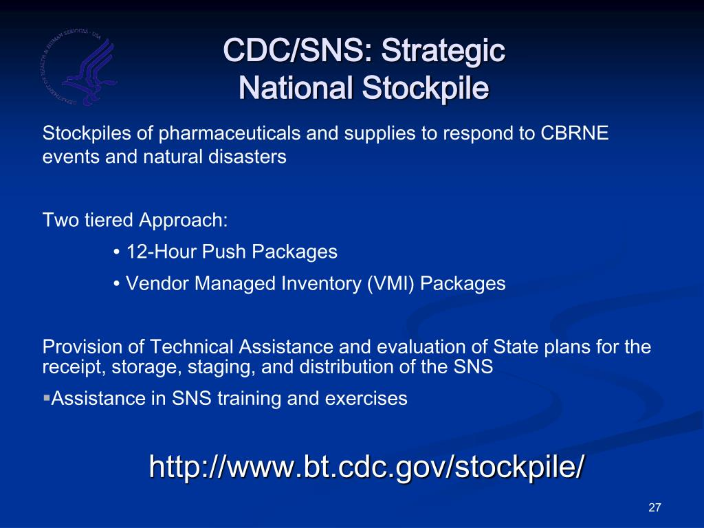 CDC/SNS: Strategic