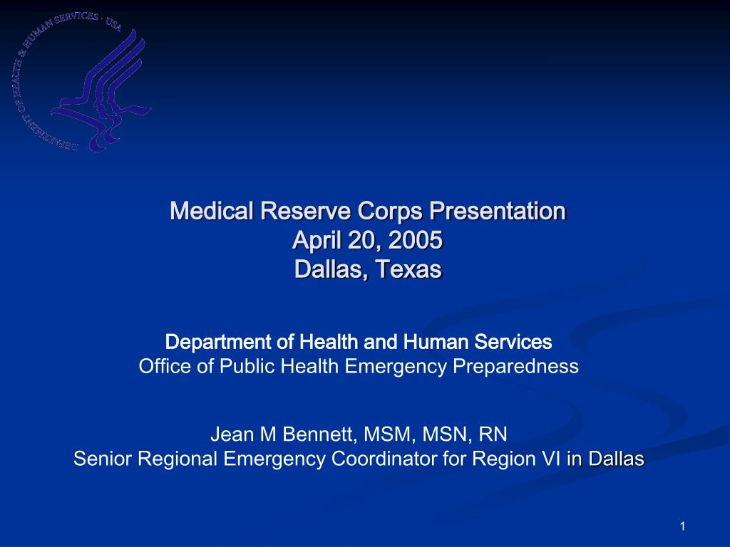 Medical Reserve Corps Presentation