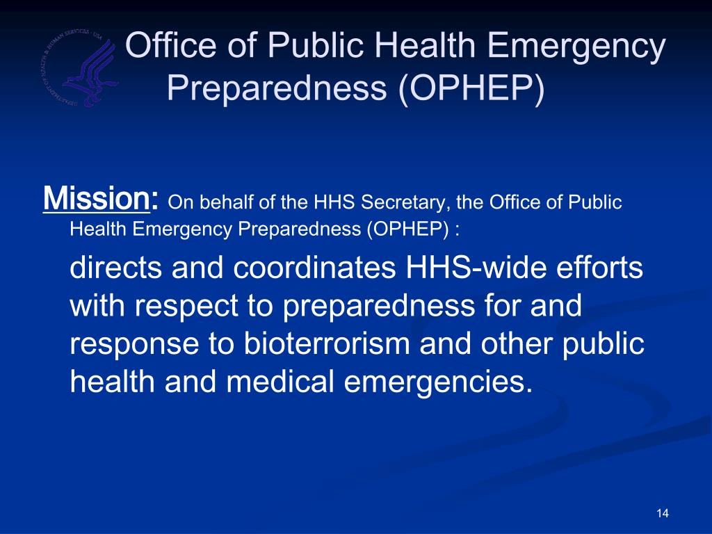Office of Public Health Emergency       Preparedness (OPHEP)