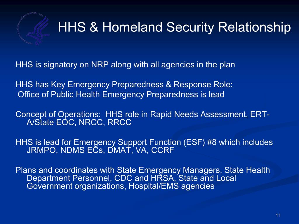 HHS & Homeland Security Relationship