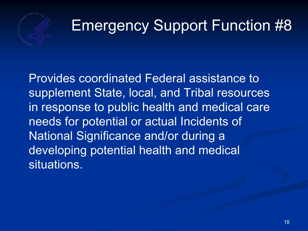 Emergency Support Function #8