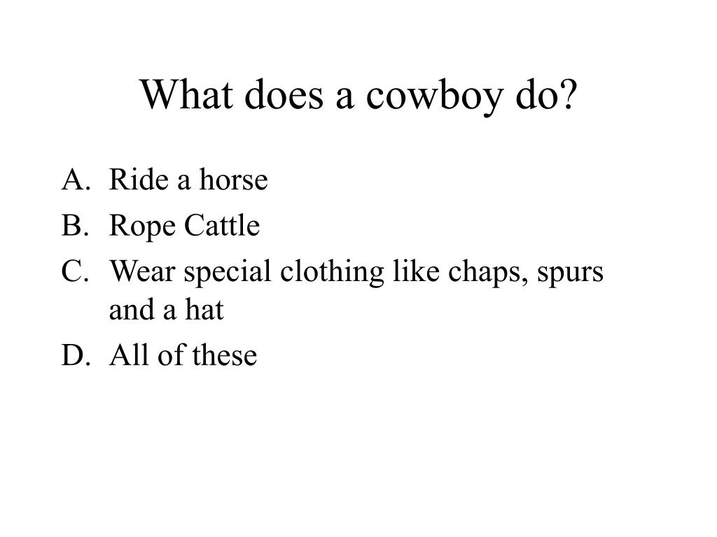 What does a cowboy do?